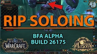 Massive Nerf to Soloing on Battle for Azeroth Alpha? - Stat Squish?