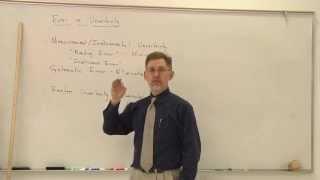 Physics Help: Error vs. Uncertainty