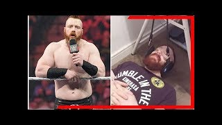 Wwe star sheamus reveals he has been suffering from serious neck injury Breaking Daily News