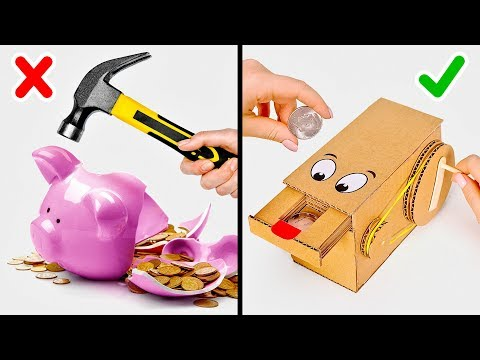 Say NO to Piggy Banks Say OH YEAH to CARDBOARD COIN BANKS