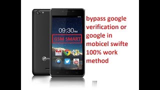 How to bypass Google verification FRP LOCK on Mobicel Swift and Google ID