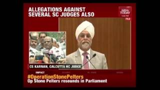 Justice C.S Karnan Appears In Supreme Court In Contempt Of Court Case