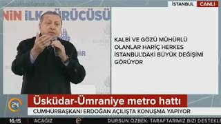 Erdoğan'ın Üsküdar-Ümraniye Metrosu Açılışındaki Tarihi Konuşması (Kudüs ve Türkiye Gündemi)