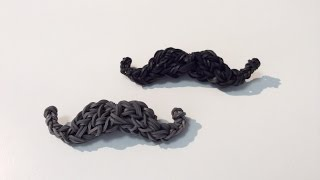 Rainbow Loom Nederlands, 3d Moustache (original design)