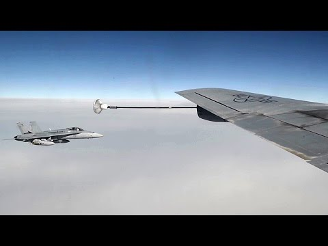 Probe-and-drogue Aerial Refueling – KC-135 & F/A-18