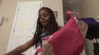 Docile little girl helped her mother clean bedroom   Lovely