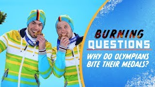 Why do Olympians bite their medals? | Burning Questions