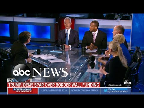 Rahm Emanuel Trump s base will follow him over a cliff even if no border wall