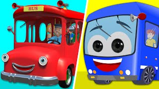 Wheels On The Bus | Wheels On The Bus Go Round and Round | Kids Rhymes