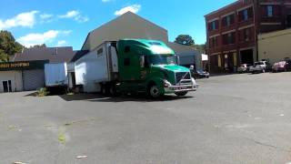 A rookie trucker backing a tractor trailer in New Jersey with Parteehard and Kee Dee Wee