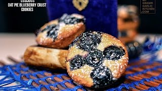LUSCIOUS OAT BLUEBERRY PIE CRUST COOKIES