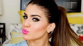 Pink Lips & Small Cat Eye by Camila Coelho