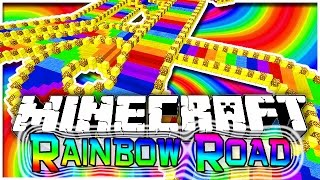Minecraft: EXTREME Rainbow Road Parkour 2! Fun Challenging Parkour Mini-Game!