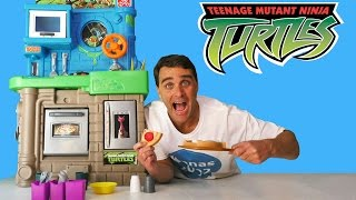 Teenage Mutant Ninja Turtles Pizza Kitchen ! || Toy Reviews || Konas2002