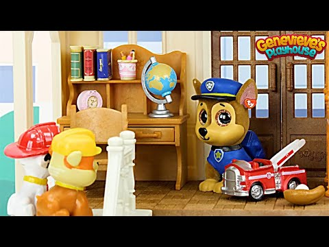 Paw Patrol get a New House & Go to the Shopping Mall Learning Video for Kids