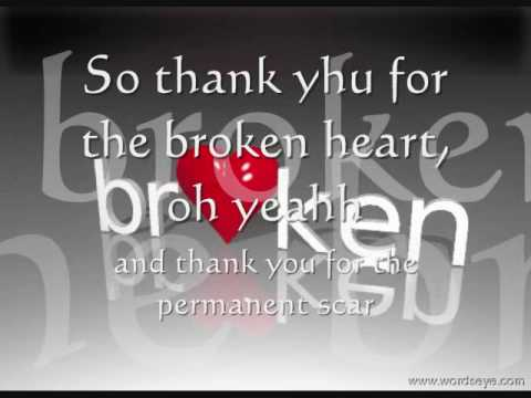 thank you for the broken heart