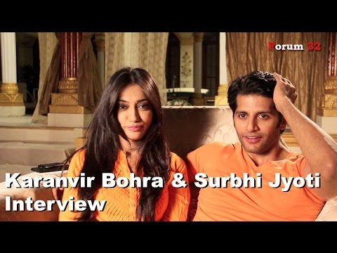 Qubool Hai   Surbhi Jyoti and  Karanvir Bohra Interview   Part 1