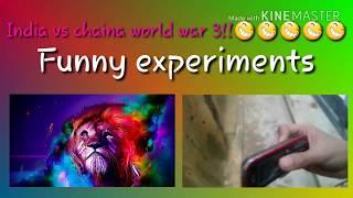 India vs chaina world war 3 😆😆 funny experiments