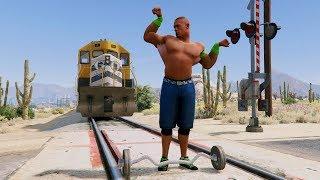 GTA 5 Mods John Cena /The Rock WWE!(GTA V Mods Gameplay Funny Moments)
