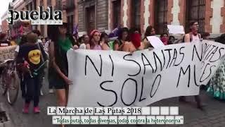 La Marcha de Las Putas 2018 en Puebla