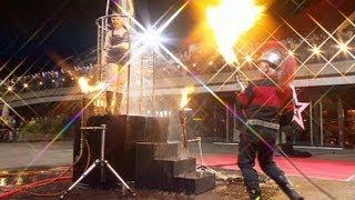 """Supertalent 2012 Eddie Egal """"Feuerperformance"""""""