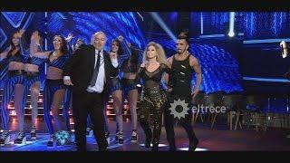 Fernanda Herrera, la abogada hot, cantó en Showmatch y provocó la risa de todos