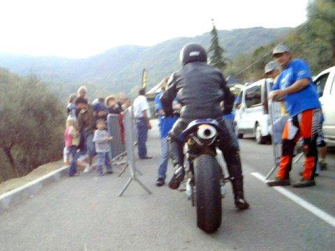 ma 1ere course de côte moto a sospel 2008