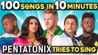Pentatonix Tries To Sing 100 Pop Songs In 10 Minutes Challenge