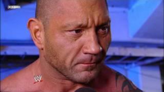 Josh Matthews interviews Batista