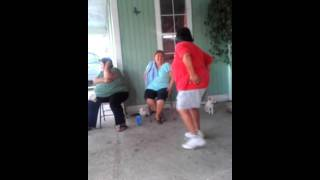 Drunk mexican lady dancing