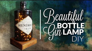 GIN bottle lamp without drilling glass DIY