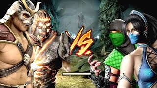 Mortal Kombat Komplete Edition - Shao Kahn & Dark Kahn Costume Mod Tag Ladder Gameplay Playthrough