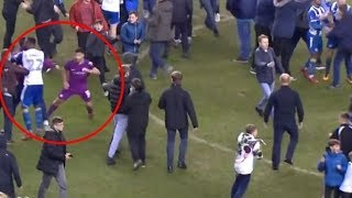 MOMENT AFTER THE END OF WIGAN VS MANCHESTER CITY