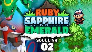 POKEMON RUBY SAPPHIRE & EMERALD SOUL LINK TRIPLELOCKE! - Choose Our Starters #02