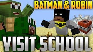 Minecraft: Batman and Robin Teach Minecraft School About TNT w/ Littlelizardgaming!