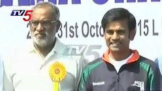 Skating Champion Anup Kumar Begins Telangana Champions Cup 2015   TV5 News