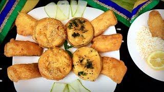 চার স্বাদে চার ধরনের মচমচে বেগুনী | Bangladeshi Beguni Recipe | Fried Egg plant | How To Make Beguni