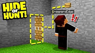 accidentally found a SECRET Minecraft Redstone DOOR entrance! - Hide Or Hunt #2
