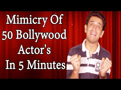 Mimicry Of 50 Bollywood Actor's In 5 Minutes - Shehbaaz Khan