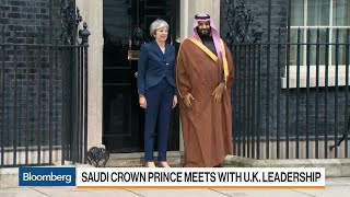 Saudi Crown Prince Meets With U.K. Leadership