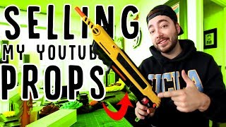 SELLING ALL MY YOUTUBE PROPS ONLINE!