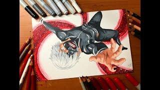 Speed Drawing - Kaneki Ken (Toyko Ghoul) [HD]
