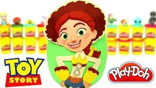 Huevo Sorpresa Gigante de Jessie de Toy Story en Español de Plastilina Play Doh