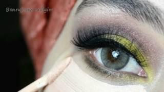 Sarı - Kızıl Smokey Göz Makyajı 💛 Solotica Soflex - Mel #İnstagram