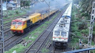 WDP3A Tejas Express Overtakes WAP7 Kashi Express : India's First High Speed Luxurious Train