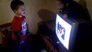 Jordan singing to barney:)