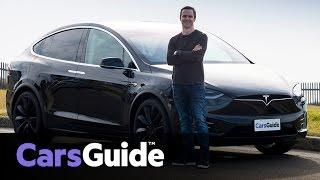 Tesla Model X P90D 2017 review   road test video