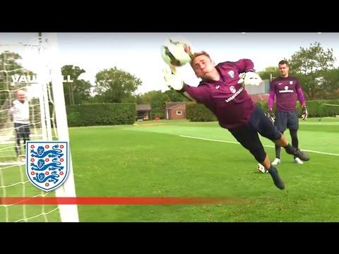 Joe Hart & England GK reaction practice   Inside Training