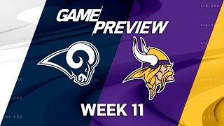 Los Angeles Rams vs. Minnesota Vikings | NFL Week 11 Game Preview | Move the Sticks