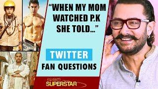 """""""When My Mom Watched P.K She Told…"""": Aamir Khan   Secret Superstar   Twitter Fan Questions"""